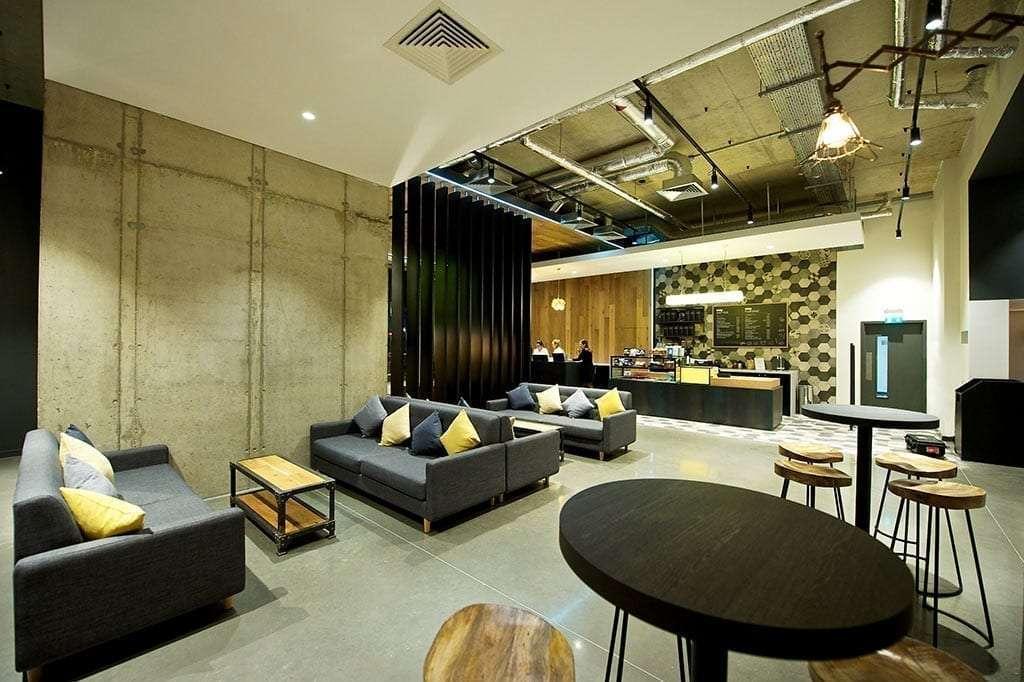 Lobby and café