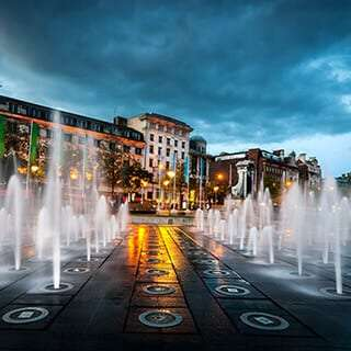 Picture of Manchester Piccadilly fountains near Staycity Apartments