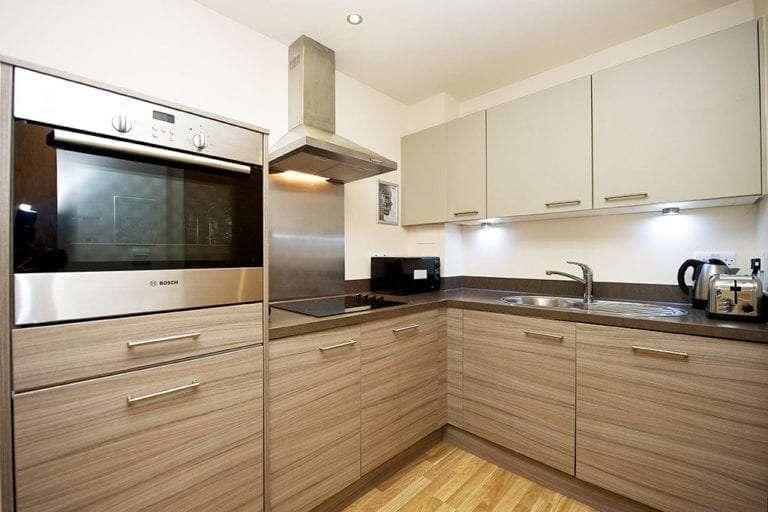 2 bedroom open plan kitchen